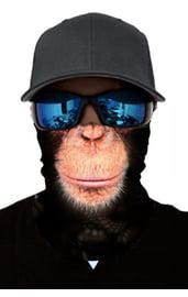 Черная бандана с обезьяньим принтом