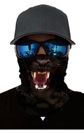 Черная бандана с принтом пантеры
