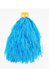 Голубой гофрированный помпон