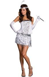 Бело-серебристый костюм модницы из 20-х