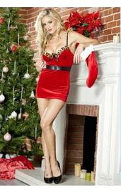 Бархатное рождественское платье