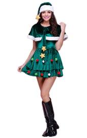 Взрослый костюм новогодней елочки