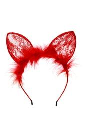 Красные кружевные ушки