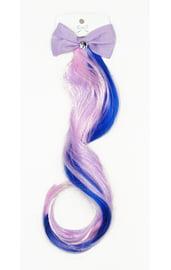 Цветная прядь с фиолетовым бантиком