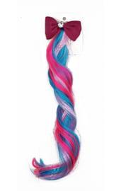 Цветная прядь с бордовым бантиком