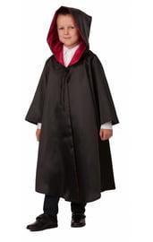 Детский черно-красный плащ Волшебника