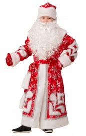 Детский костюм Деда Мороза с узорами