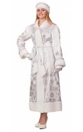 Взрослый костюм белоснежной Снегурочки
