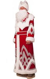 Взрослый костюм Деда Мороза с вышивкой