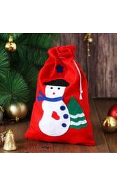 Новогодний мешок Снеговик с елочкой