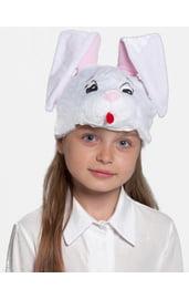 Детская шапка-маска Зайчонок