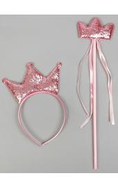 Блестящий розовый набор королевы