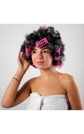Кудрявый парик с бигуди