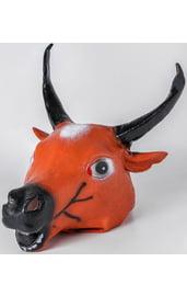 Латексная маска быка