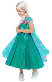 Детский костюм Эльзы в зеленом платье