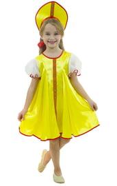 Детский костюм Царевны в желтом