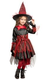 Детский костюм красно-черной Ведьмочки