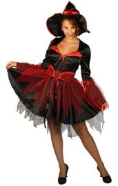Взрослый костюм черно-красной Ведьмы