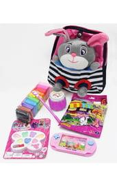Черно-розовый подарочный набор Зайчик