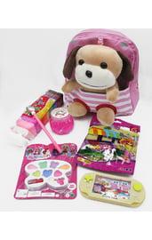 Светло-розовый подарочный набор Собачка