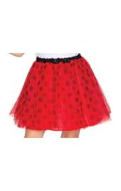 Детская красная туту юбка