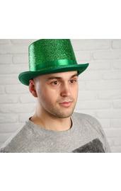 Блестящая зеленая шляпа