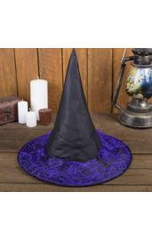 Шляпа ведьмы с фиолетовой паутиной