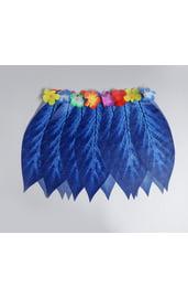 Детская гавайская юбка синяя