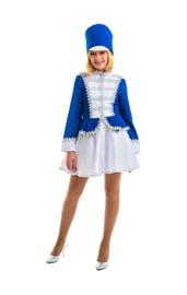 Детский костюм мажоретки в синем