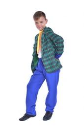 Детский сине-зеленый костюм стиляги