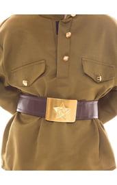 Детский солдатский коричневый ремень