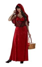 Взрослый костюм красной шапочки для хэллоуина