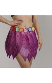 Гавайская юбка «Листики и цветочки»