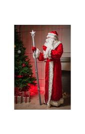 Посох Деда Мороза серебряный
