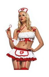 Костюм медсестры Красно-белый