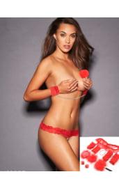 Сексуальное женское белье красное