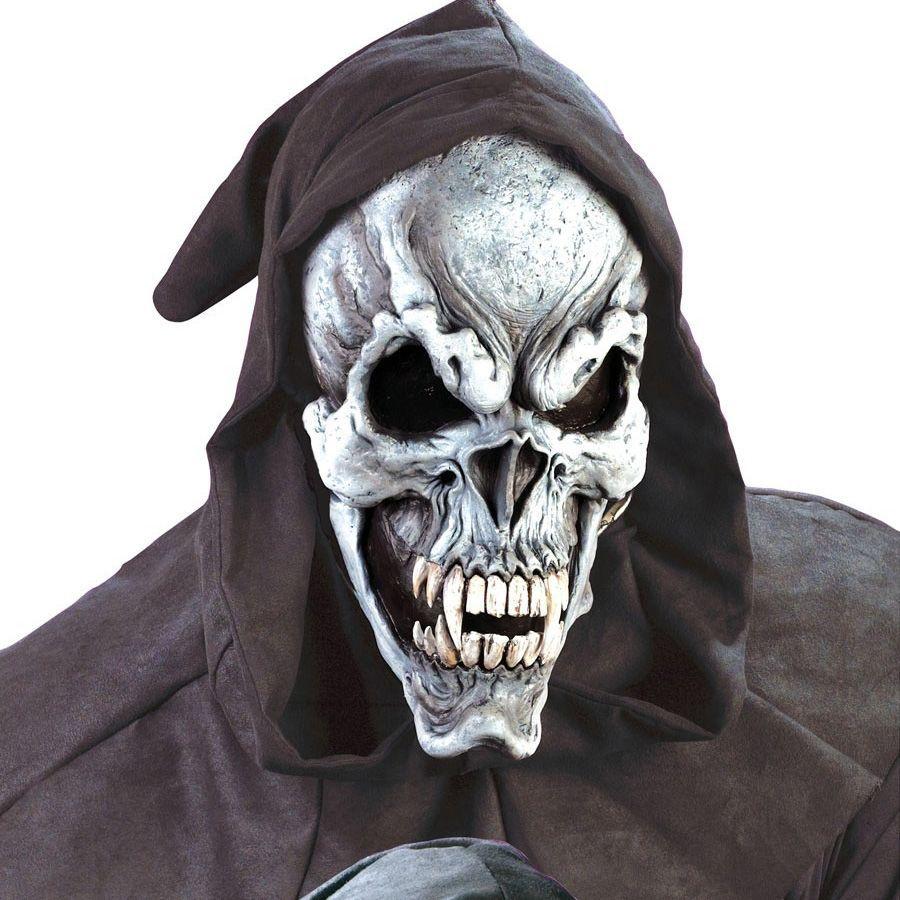 волосах фото в маске скелета разных