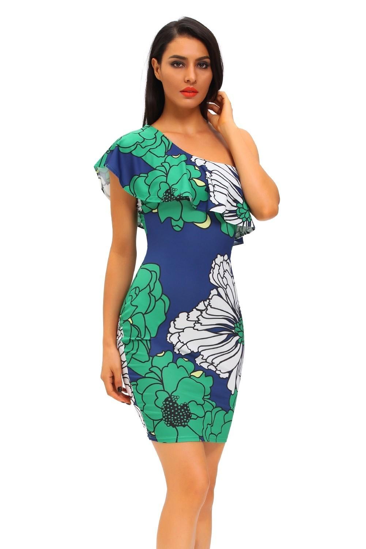 Сине Зеленое Платье
