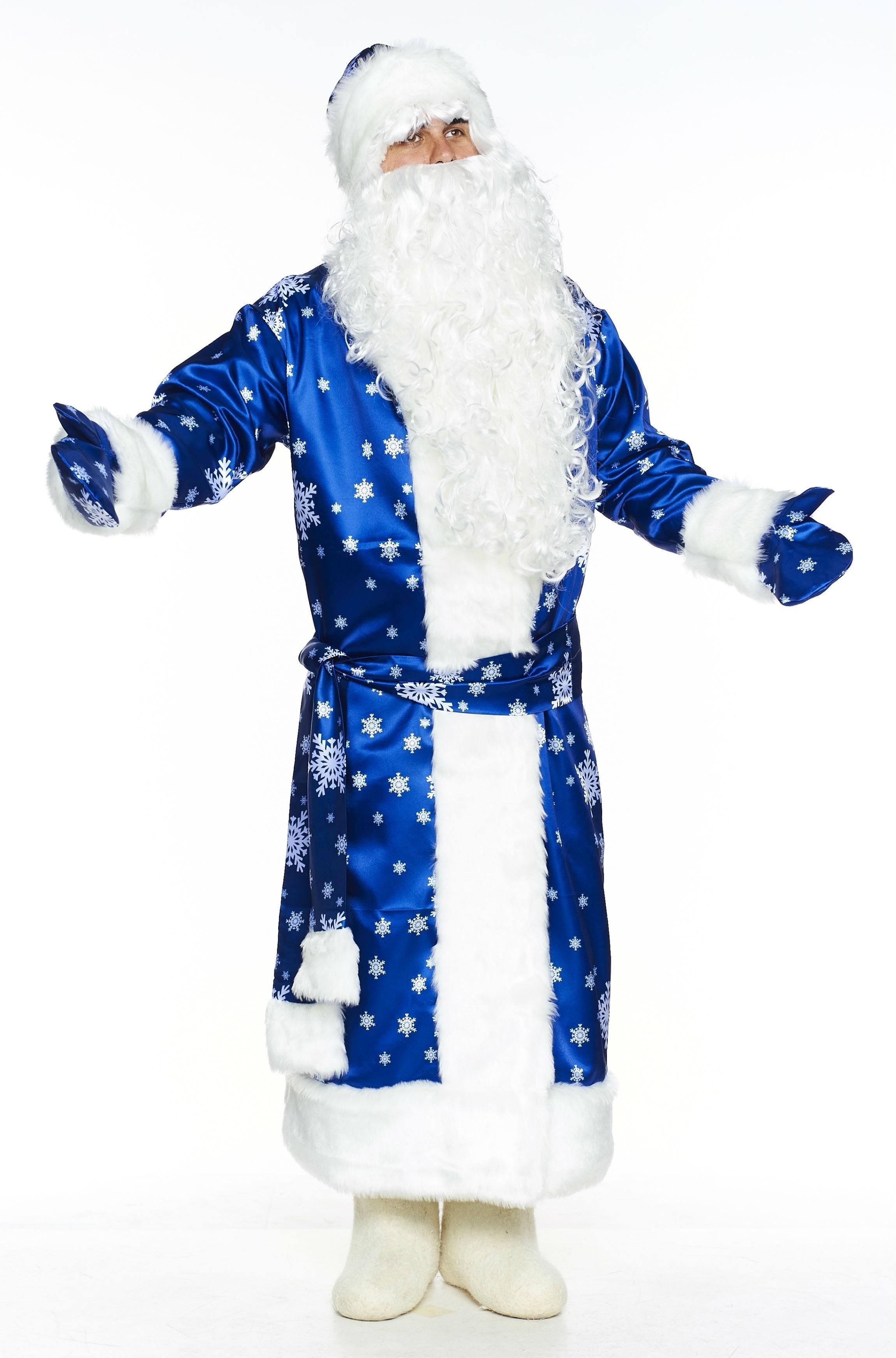 Дед мороз в голубой шубе картинка
