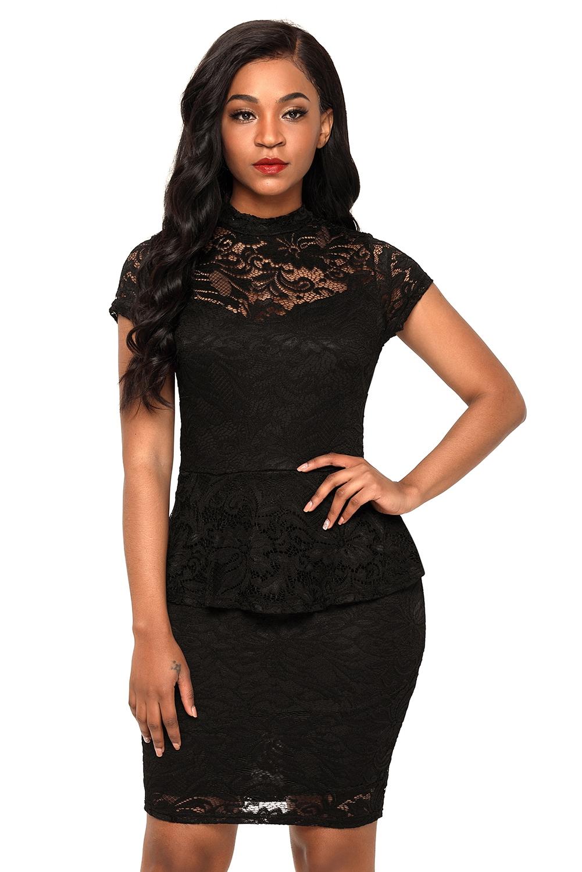 Купить Черное Кружевное Платье В Интернет Магазине